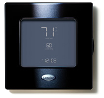 Carrier Controls and Thermostats - Edge Black
